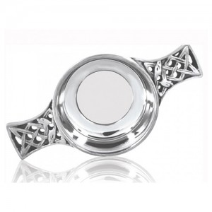 "2.5""Glass Bottomed Pewter Quaich"