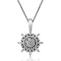18ct White Gold Diamond Star Pendant - 0,22cts
