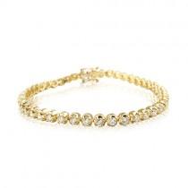 18ct Yellow Gold Diamond Line Bracelet - 5.16cts