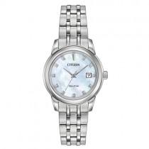 Citizen Ladies Diamond Set Stainless Steel Eco-Drive Watch - EW2