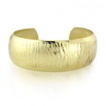 18ct Yellow Gold Plated Sterling Silver Textured Cuff