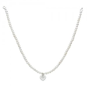 Kit Heath Hearts and Flowers Pearl Necklace