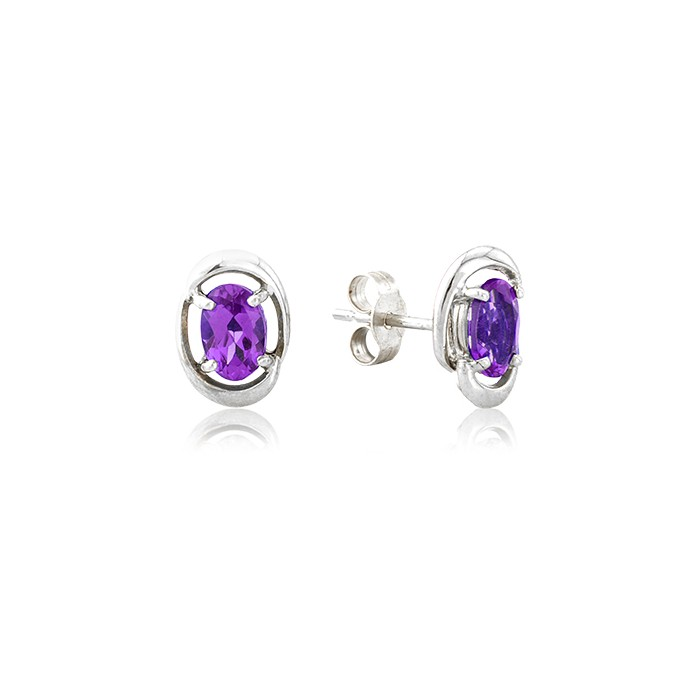 purple in light stud lyst jewelry cluster amethyst dew drop earrings anzie
