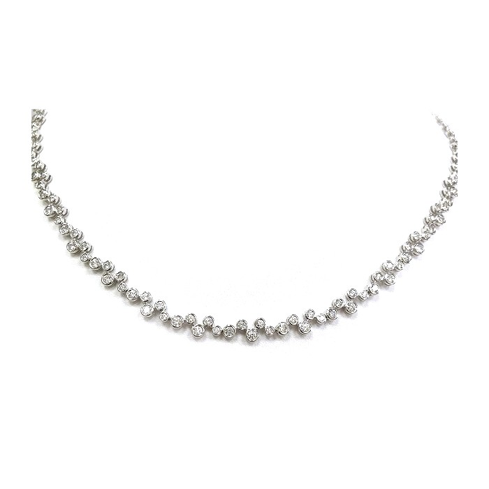 18ct white gold diamond necklet Diamond weight :5.46cts