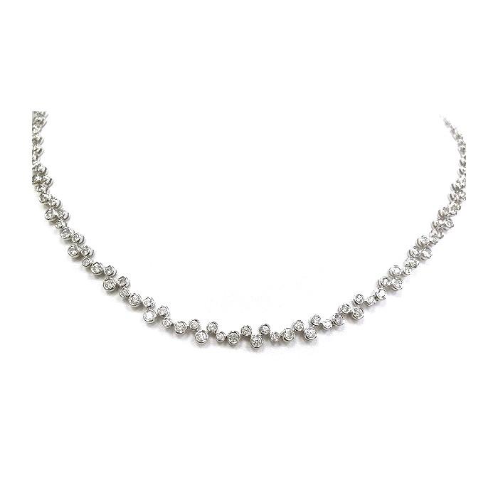 18ct white gold diamond necklet Diamond weight :5.46cts