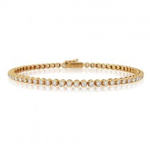 Rose Gold Diamond Bracelet - 2.15 Carats
