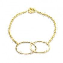 Gold Vermeil Silver Spotlight Long Link Bracelet By Mark Milton