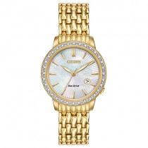 Citizen ladies'Gold Diamond Silhouette Eco-Drive Watch - EW2282