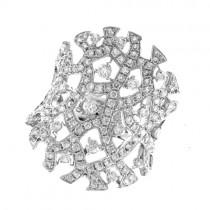 18ct White Gold Diamond Filligree Dress Ring - 1.48cts