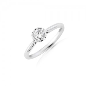 18ct White Gold Diamond Solitaire Ring - 0.40cts