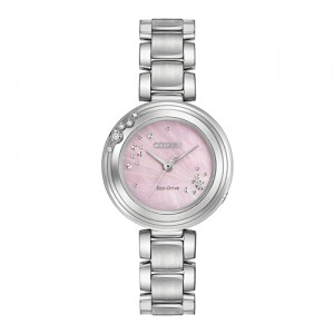 Citizen Ladies Carina Stainless Steel Eco-Drive Watch - EM0460-5