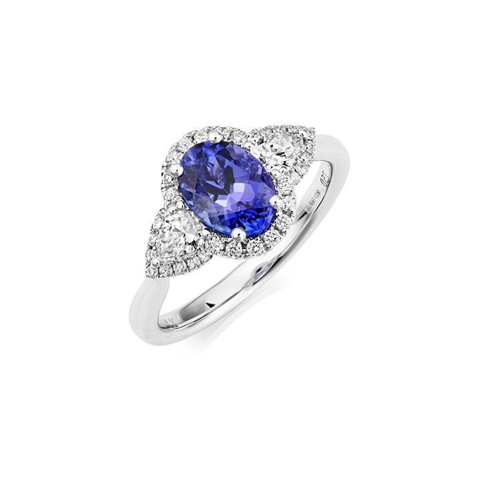 18ct white gold tanzanite ring t 1 47 d 0 57