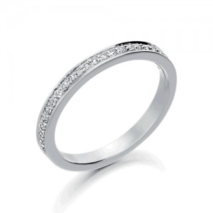Platinum Diamond Wedding Ring - D: 0.17cts