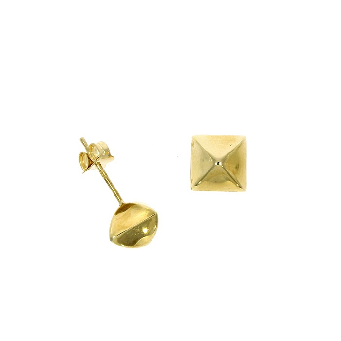 9ct Gold Pyramid Stud Earring