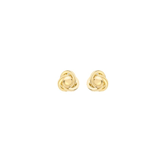 9ct Gold 8mm Ball And Knot Stud Earrings