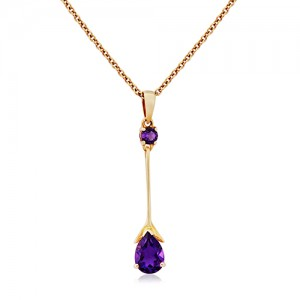 18ct Rose Gold Amethyst Pendant - A 0.75