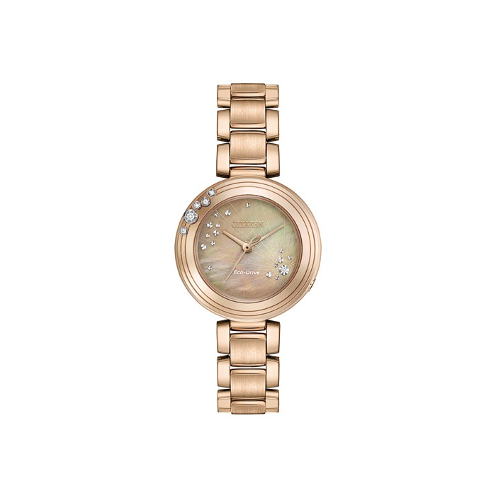 Citizen Ladies Rose Carina Eco-Drive Watch - EM0463-51Y