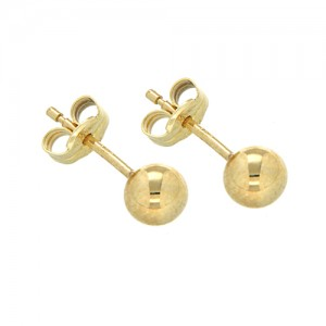 9ct Yellow Gold 8mm Ball Studs