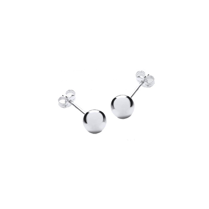 9ct White Gold 6mm Ball Studs