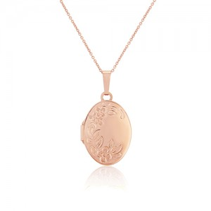9ct Rose Gold Locket & Chain