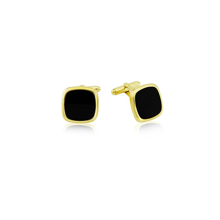 9ct Gold Onyx Cufflinks