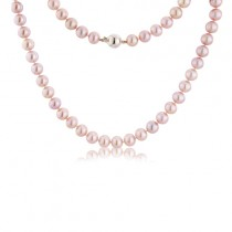 "18""String of 7.5 -8mm Natural Pink Freshwater Cultured Pearls"