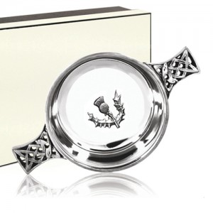 4.5 Inch Pewter Scottish Thistle Quaich