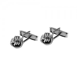 Tianguis Jackson Sterling Silver Knot Cufflinks - CL0031