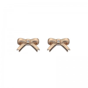 Hot Diamonds Rose Ribbon Stud Earrings - DE537
