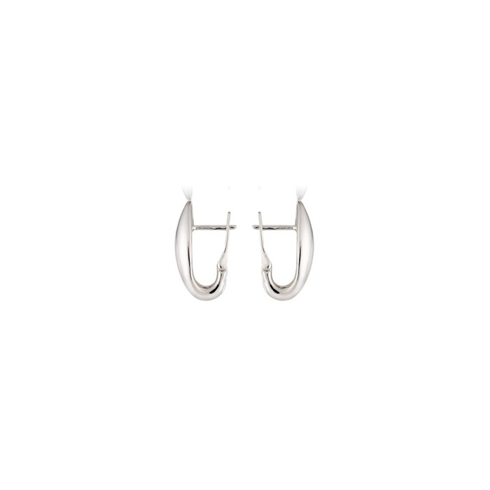 9ct White Gold Half Hoop Earrings