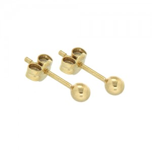 9ct Yellow Gold 3mm Ball Studs