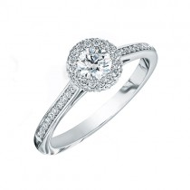 Platinum Diamond Infinity Halo Ring - 0.50 + 0.37ct F/SI1