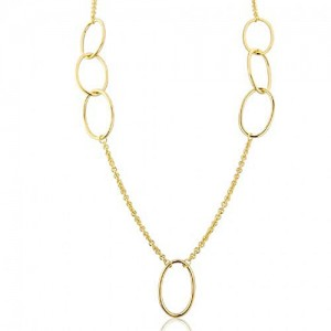 18ct Vermeil Silver Spotlight Chain Necklace - MME0012-32
