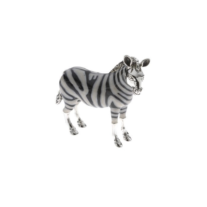 Sterling Silver Large Zebra By Saturno - A-12941-L