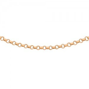 "18ct Rose Gold 16""Belcher Chain"