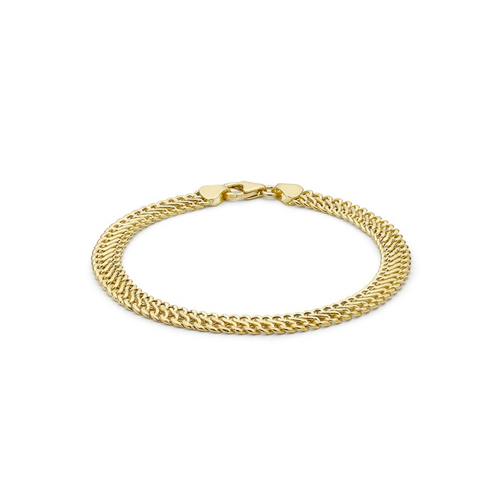 9ct Yellow Gold Woven Curb Link Bracelet