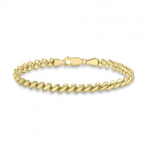 9ct Yellow Gold San Marco Link Bracelet