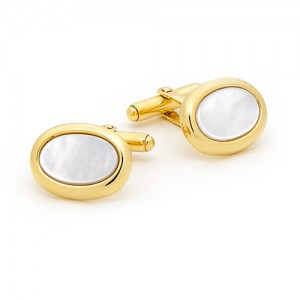9ct Gold Mother of Pearl Cufflinks