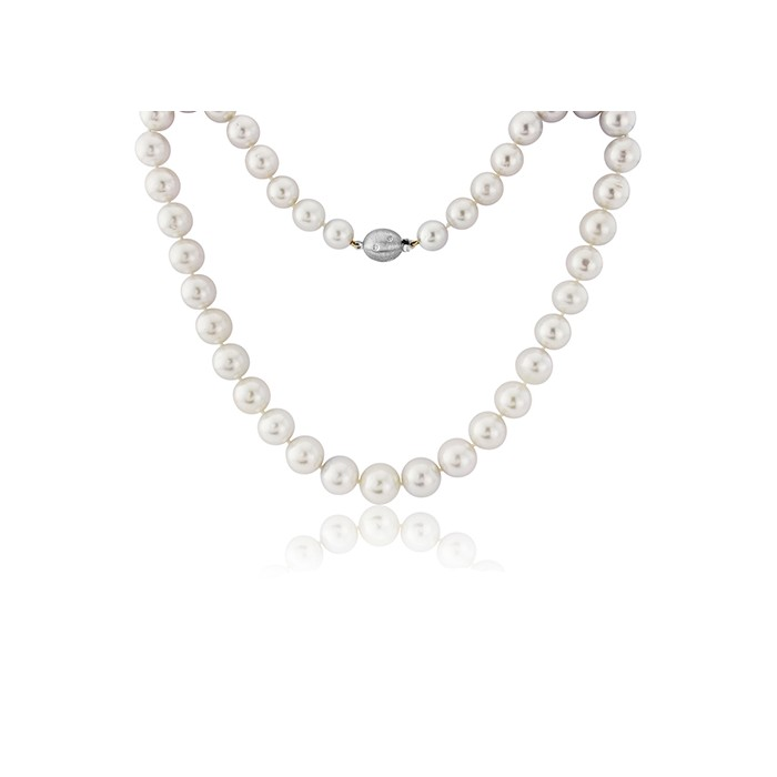 Graduated South Sea Pearl Necklace with White Gold Clasp