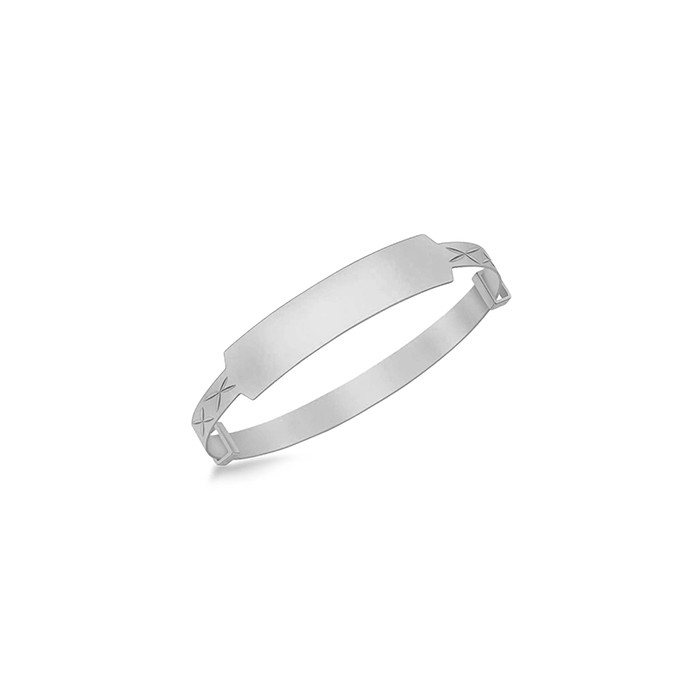 Sterling Silver ID Baby Bangle