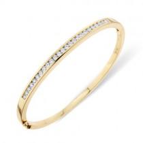 18ct Gold Diamond Set Bangle - 0.89cts