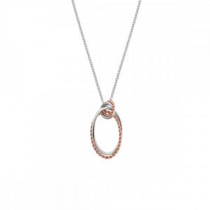 Hot Diamonds Silver & Rose Gold Plate Oval Pendant DP738