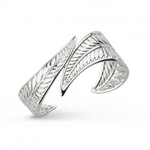 Kit Heath Eden Wrapped Leaf Silver Cuff 70247 [Save 27% off RRP]