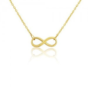 9ct Yellow Gold Infinity Necklet