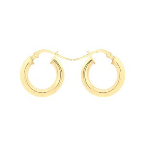 9ct Yellow Gold 18mm Polished Creole Earrings
