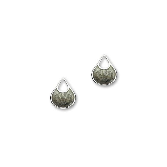 Ortak Silver Elements Fire Stud Earrings - EE416 Charcoal