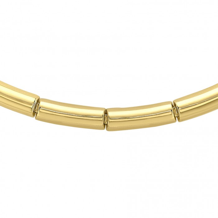 9ct Yellow Gold 19 Inch Flat Bar Necklet