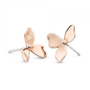 Kit Heath Blossom Petal Bloom 18ct Rose GP Earrings - 40268RG