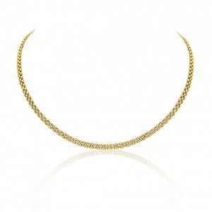 9ct Gold Three Row 18-inch Panther Necklace