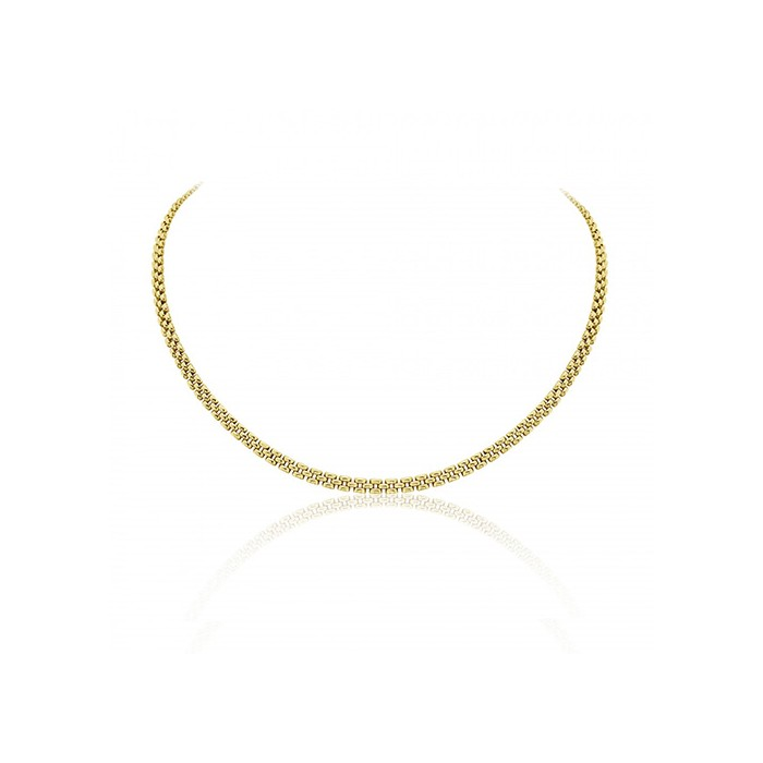 9ct Gold Three Row Panther Necklace